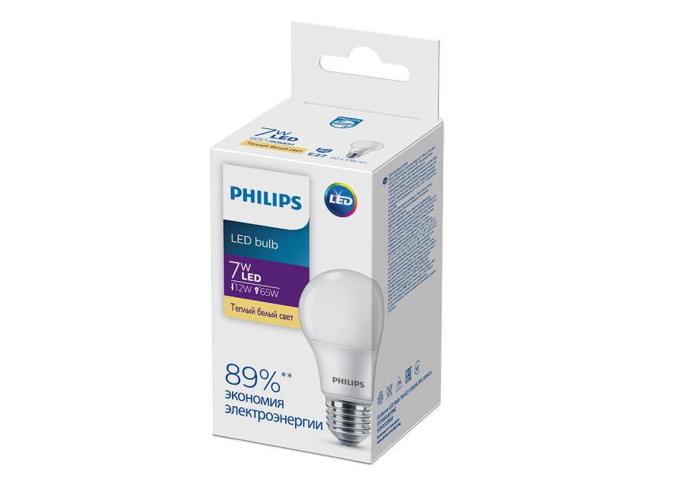 Ecohome LED Bulb 7W E27 3000K 1PF/20RCA